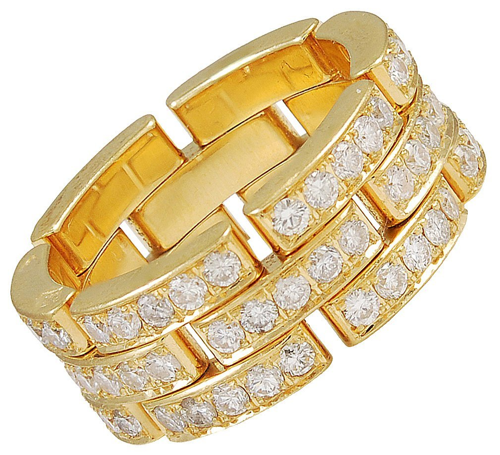 CARTIER MAILLON PANTHER Diamond Band