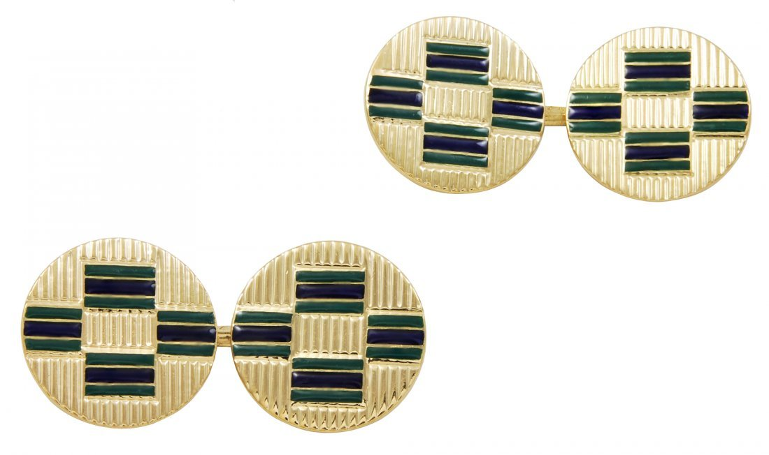 Art Deco French Enamel Cufflinks