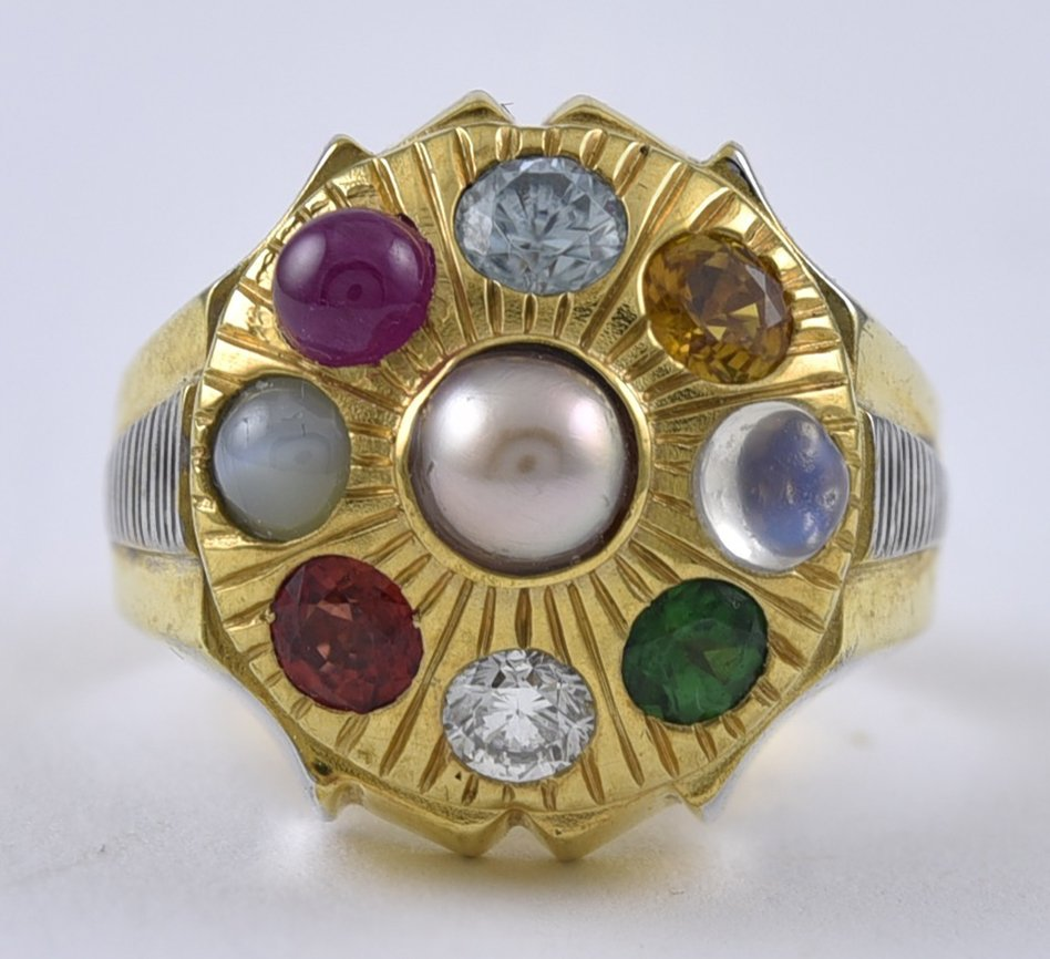Gold and Gemset Cocktail Ring