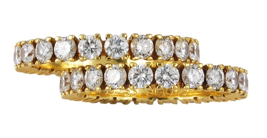 CARTIER Paris pair of Diamond Eternity Bands