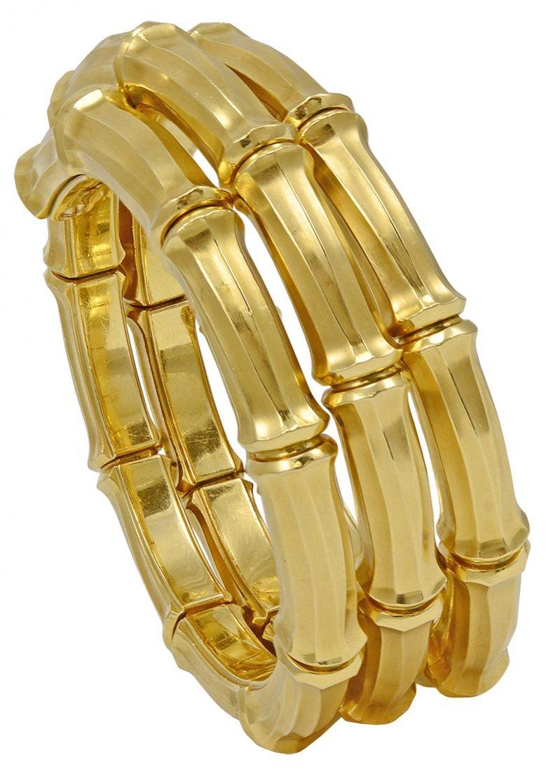 Cartier Gold Bamboo Bracelet