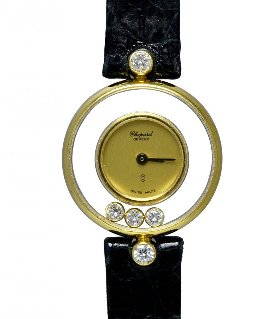Chopard Lady's Yellow Gold Happy Diamond Quartz Watch