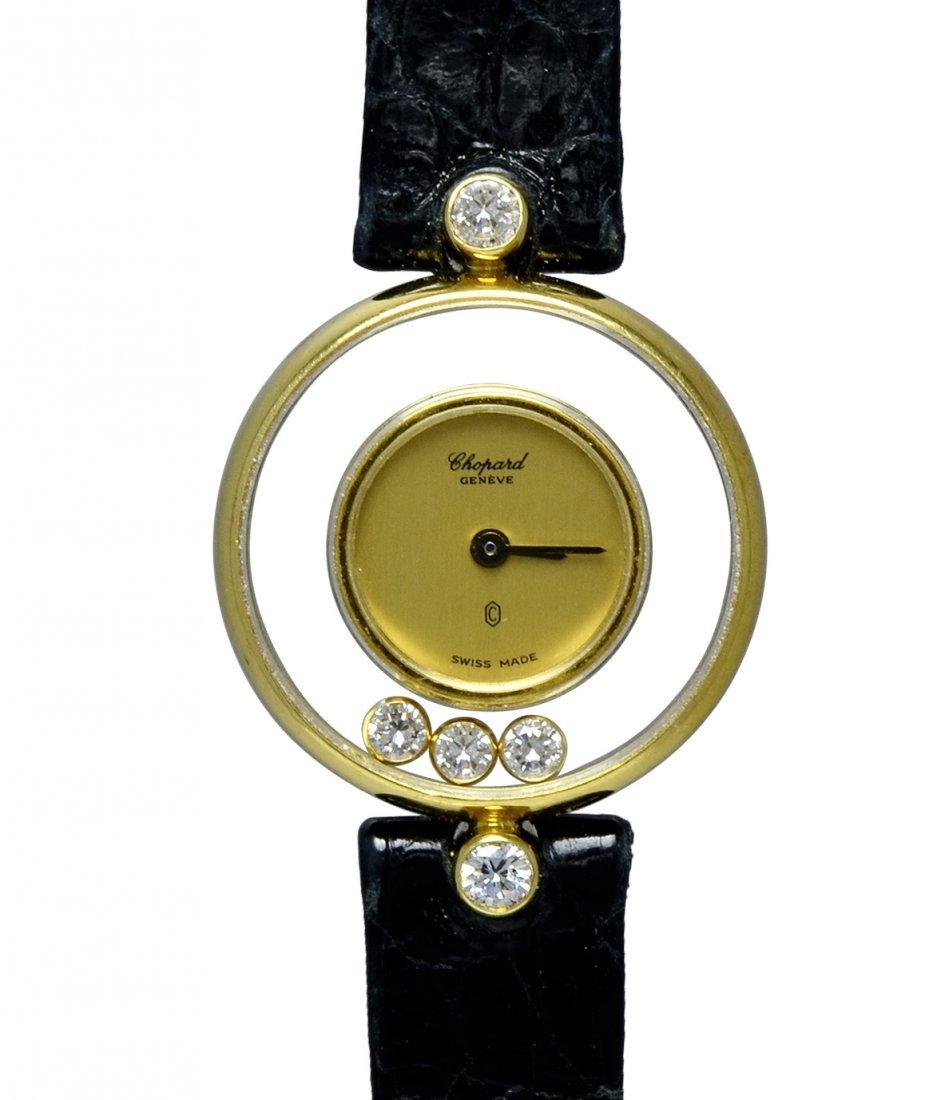 Chopard Lady's Yellow Gold Happy Diamond Quartz Watch