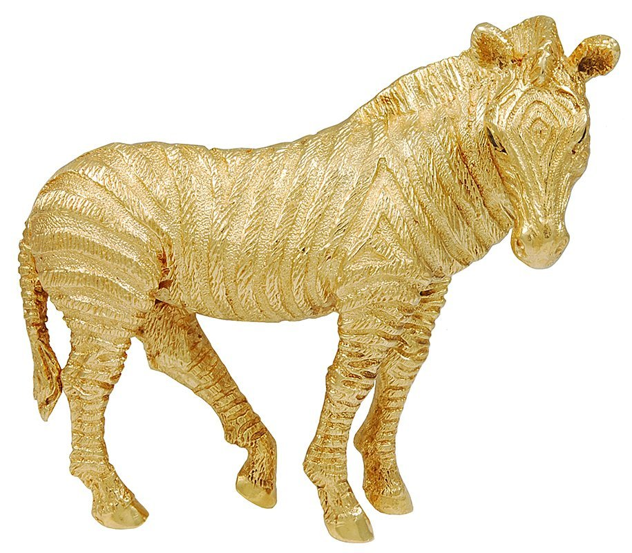 Tiffany& Co. Sapphire Gold Zebra Brooch