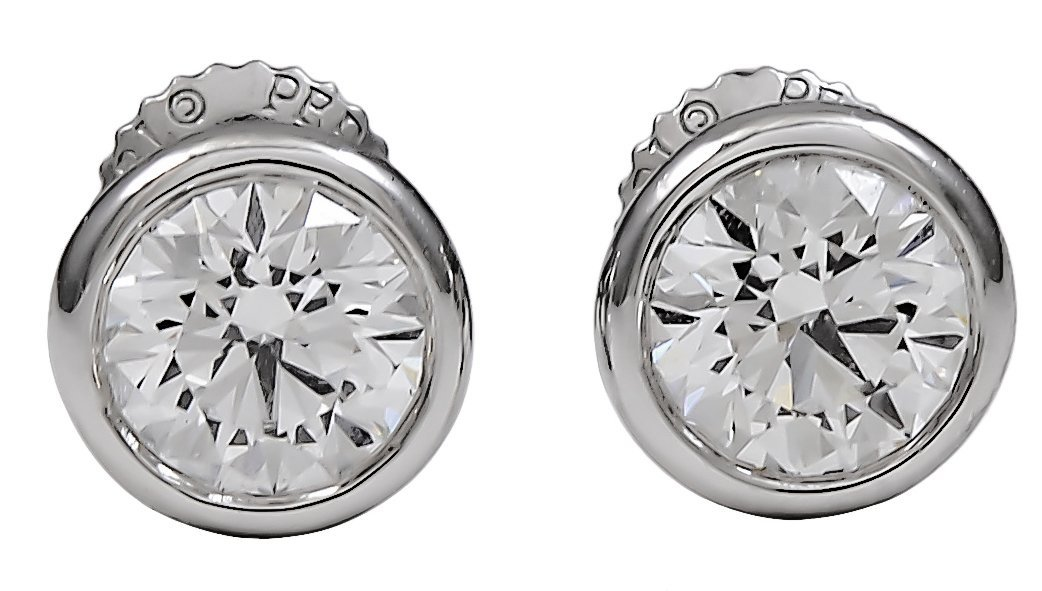 Tiffany & Co. Peretti Diamond Stud Earrings