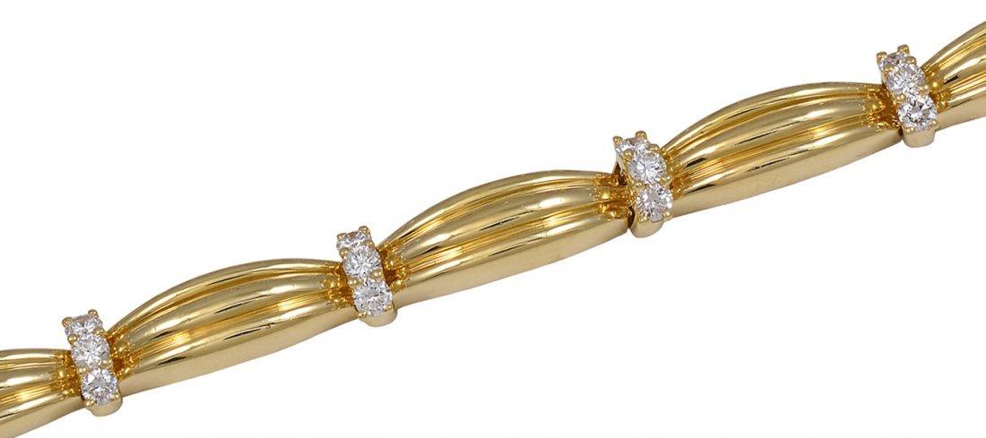 Tiffany & Co. Diamond Gold Link Bracelet