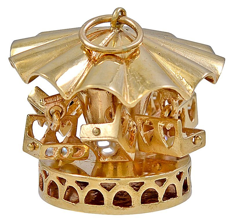 Pearl Gold Carousel Charm