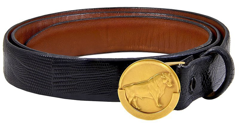 Gold Bull Belt Buckle