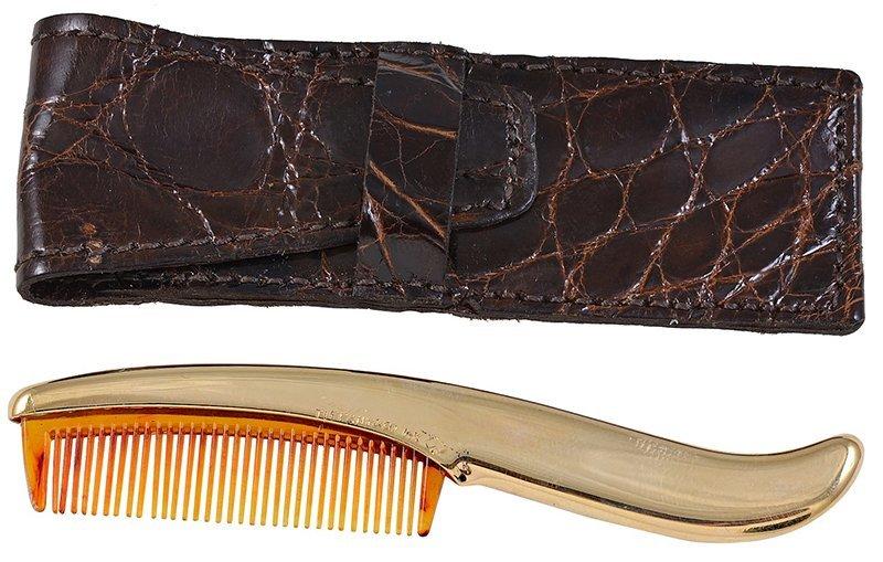 Tiffany & Co. Gold Moustache Comb