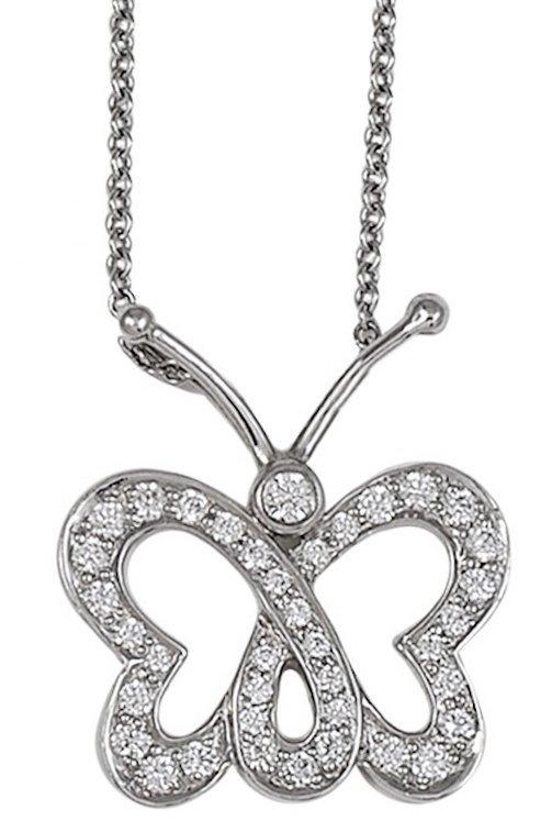 Tiffany & Co. Diamond Butterfly necklace