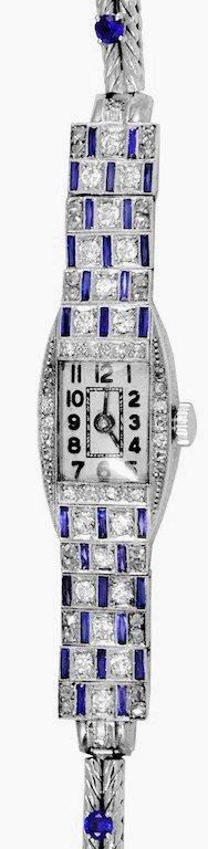 Art Deco Lady's Platinum and Diamond Watch