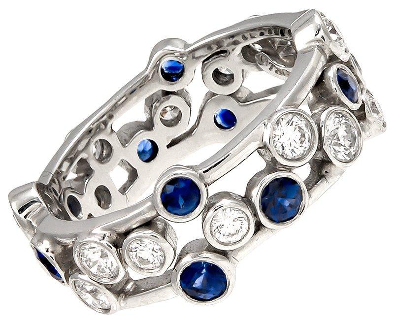 "TIFFANY & CO. ""Jazz"" Sapphire Diamond Ring"