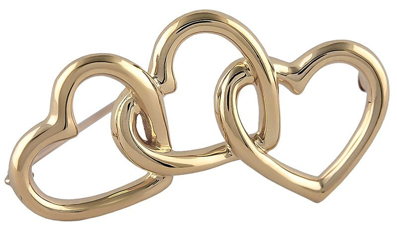 TIFFANY & CO. Triple Heart Brooch