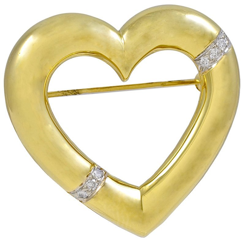 TIFFANY & CO. Paloma Picasso Gold Heart Brooch