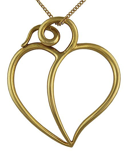 TIFFANY & CO. Paloma Picasso Heart Drop Necklace