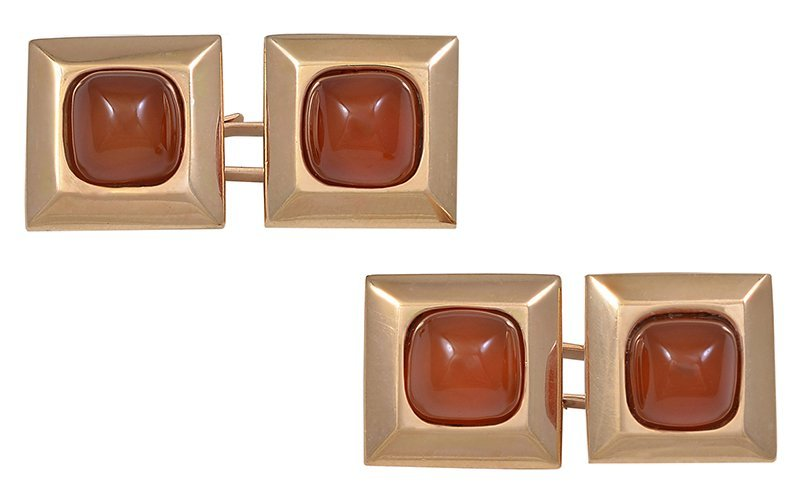 Carnelian Double-sided Cufflinks