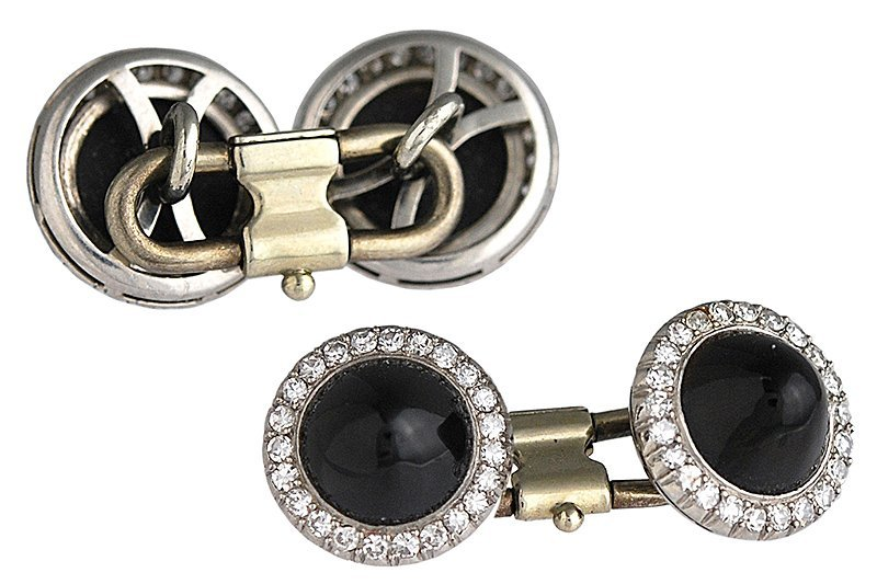 Antique Diamond and Onyx Cufflinks - 2