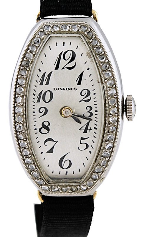 Longines 18k, Platinum and Diamond Watch