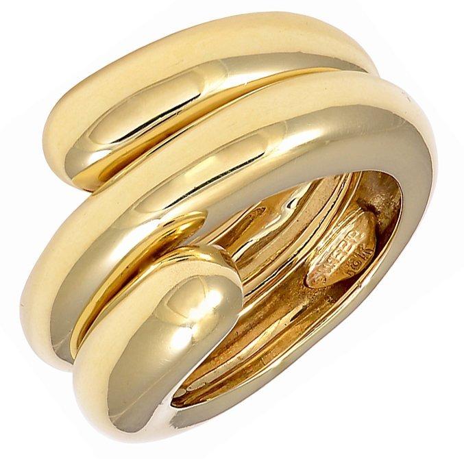 David Webb Heavy Gold Ring