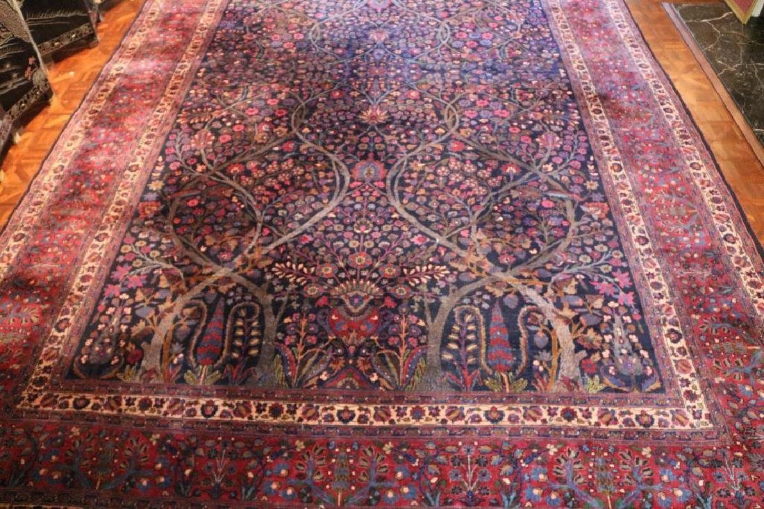 "12'2"" x 19'6"" Rare Antique Mashhad Hand Woven 100% Wool"