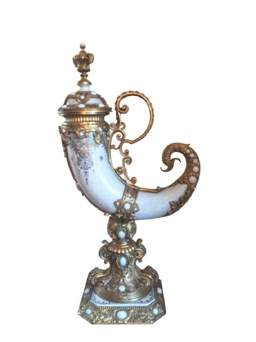 """Imari"" Horn Porcelain & Ormolu"