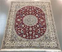 67 x 65 Persian Nain genuine handmade wool  silk