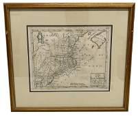Carte de la Nouvelle Angleterre Map Engraving by