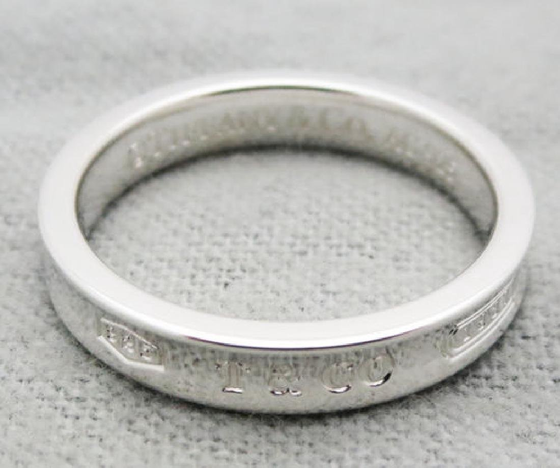 Tiffany 1837 narrow ring in sterling silver Size 4.5