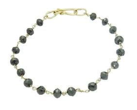DH 18k Yellow Gold Over 18.00 TCW Briolette Black