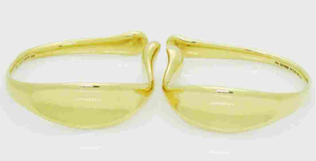 Tiffany & Co Elsa Peretti 18k Gold Rare Earrings