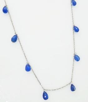 14k 10.50 TCW Stunning Sapphire Briolette Fringe