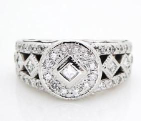 Charriol Diamonds 18K White Gold ring size 4