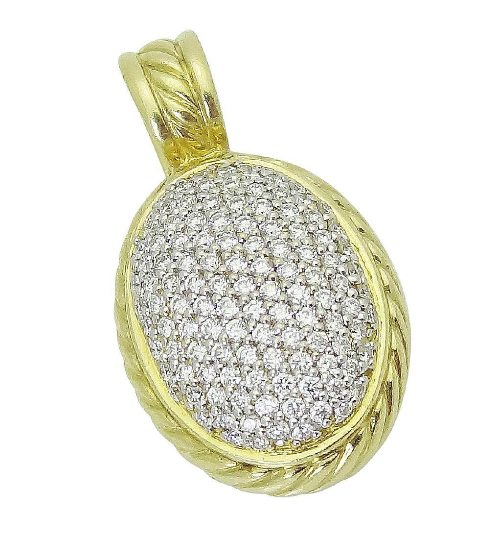 David Yurman 18K Yellow Gold & Diamond Pendant