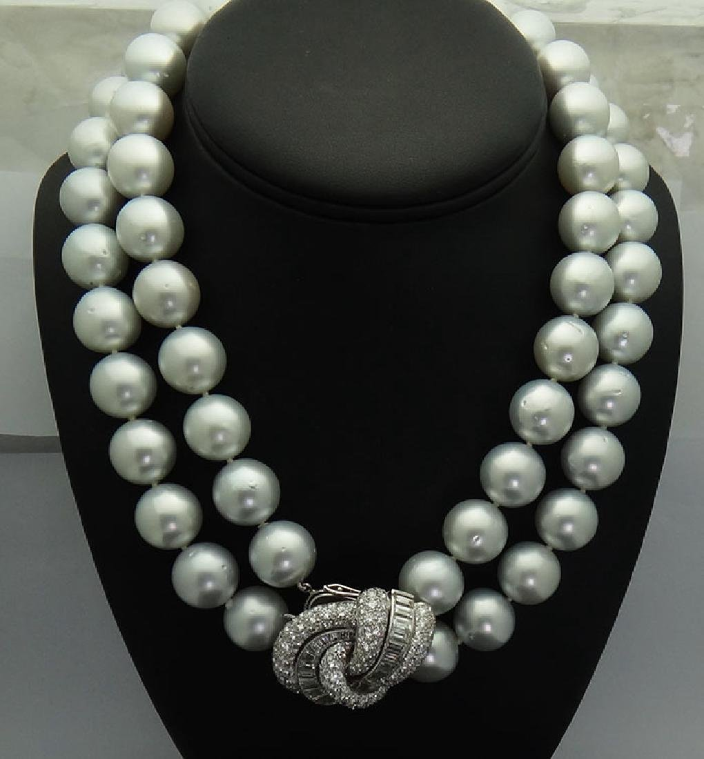Van Cleef & Arpels Pearl and Diamonds Necklace/Brooch