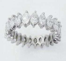 Estate Platinum 4.00 TCW Marquise Cut Diamond Ring