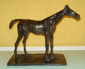 Edgar Degas French Large Bronze Sculpture of Horse