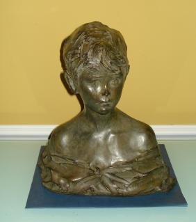 Pavel Trubetskoy Russian Bronze Bust of the Boy