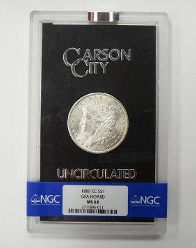 RARE 1885 CC- Morgan $1 GSA HOARD NGC MS64