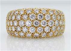 Cartier 18k 3.00 TCW Round Diamond Wedding Band Ring