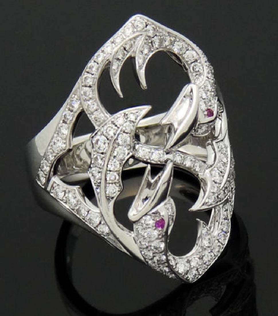 Stephen Webster 18k Gold Round Cut Diamond Birds