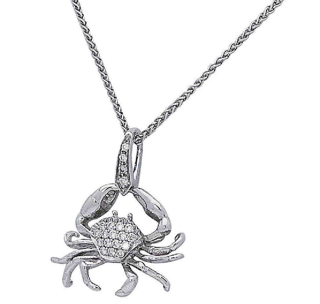 Stephen Webster 18k White Gold & Diamond Crab Pendant