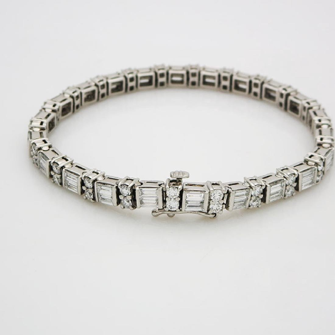 Estate 950 Platinum and apx 8CT VS/F Diamond Bracelet