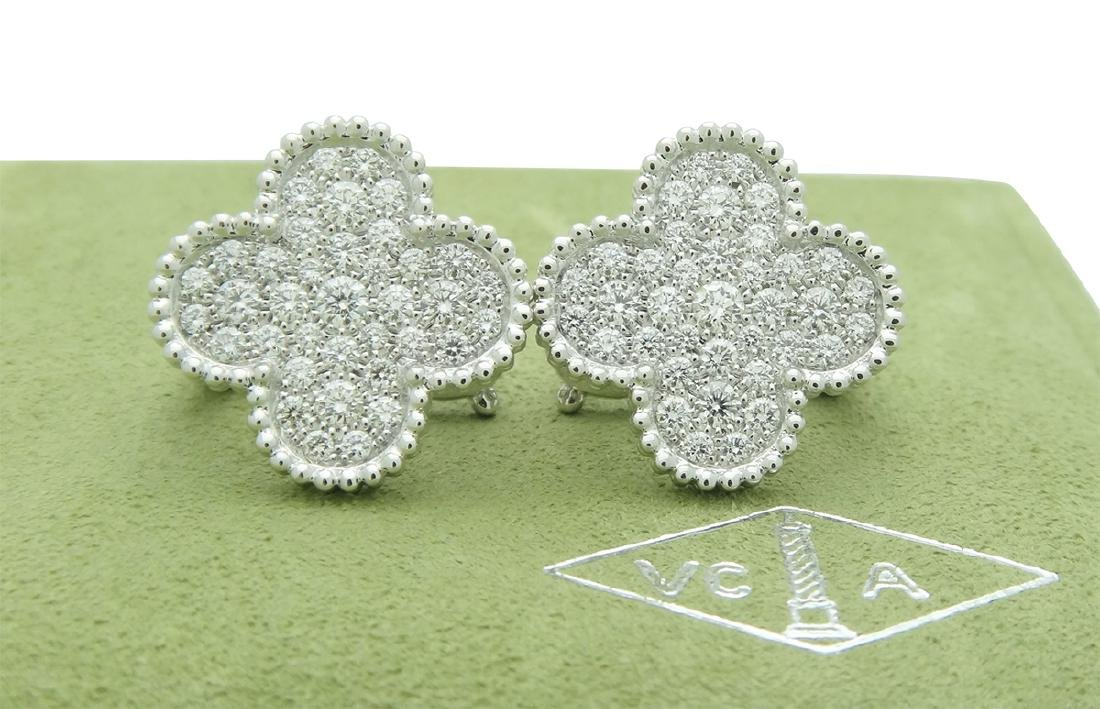 Van Cleef & Arpels 18k Magic Alhambra Diamond Earrings