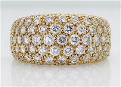 Cartier 18k 300 TCW Round Diamond Wedding Band Ring