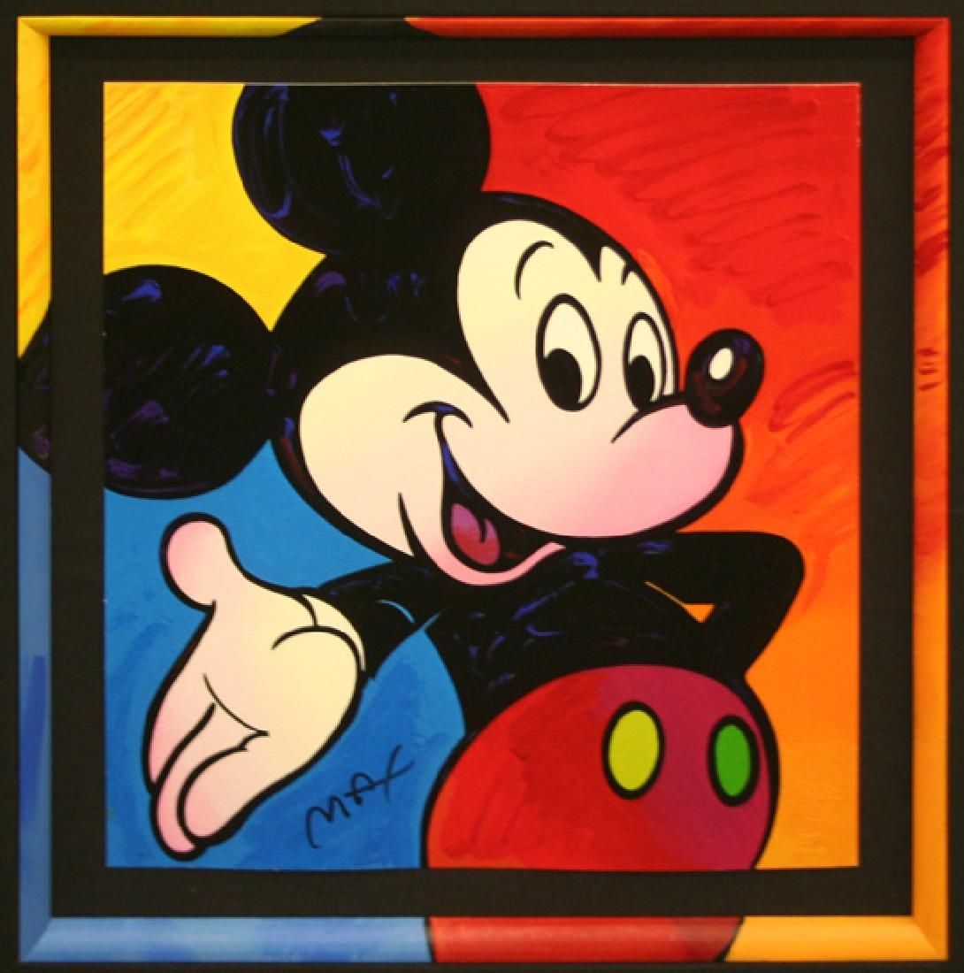 PETER MAX, (1990'S) Title: MICKEY MOUSE SERIGRAPH