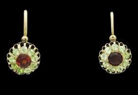 Antique Russian Faberge Michael Perchin Gold Earrings