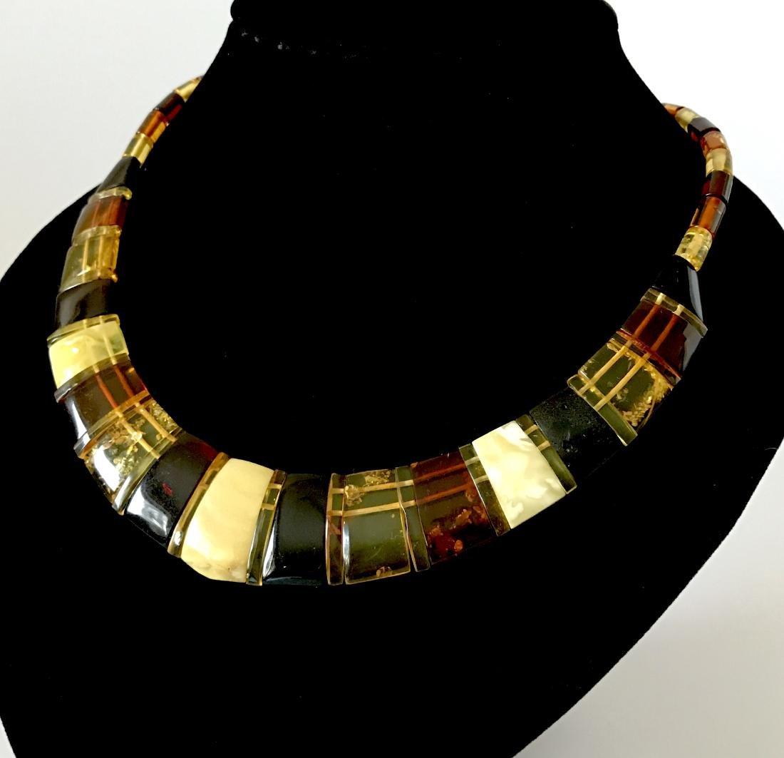 Baltic Amber Necklace Mix Colors (White, Lemon Cherry,