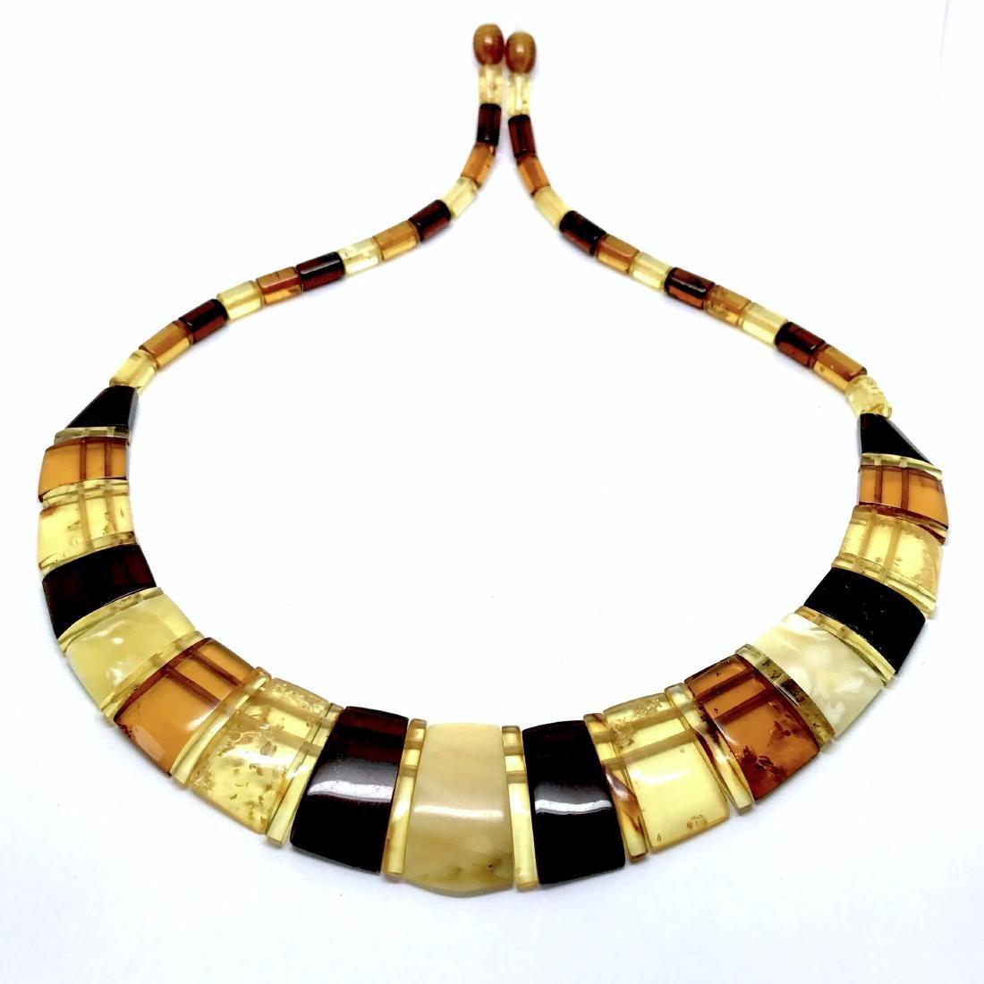 Baltic Amber Necklace Mix Colors (White, Lemon Cherry, - 3