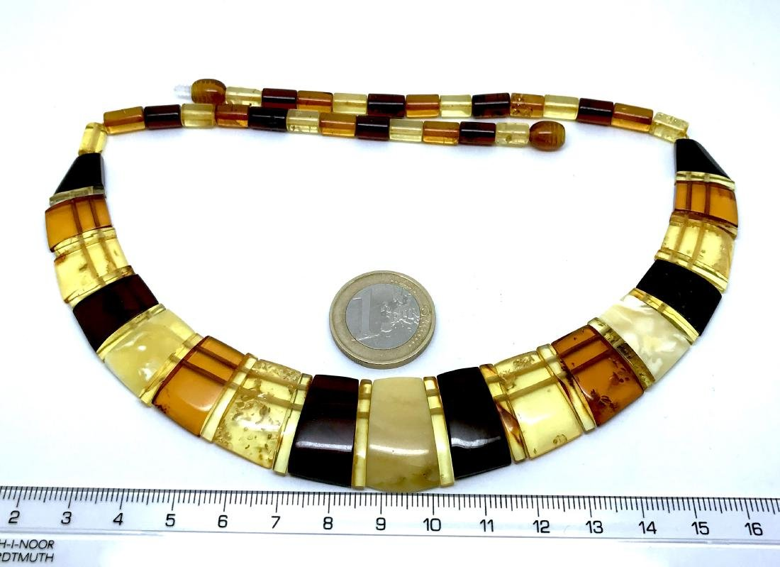 Baltic Amber Necklace Mix Colors (White, Lemon Cherry, - 4