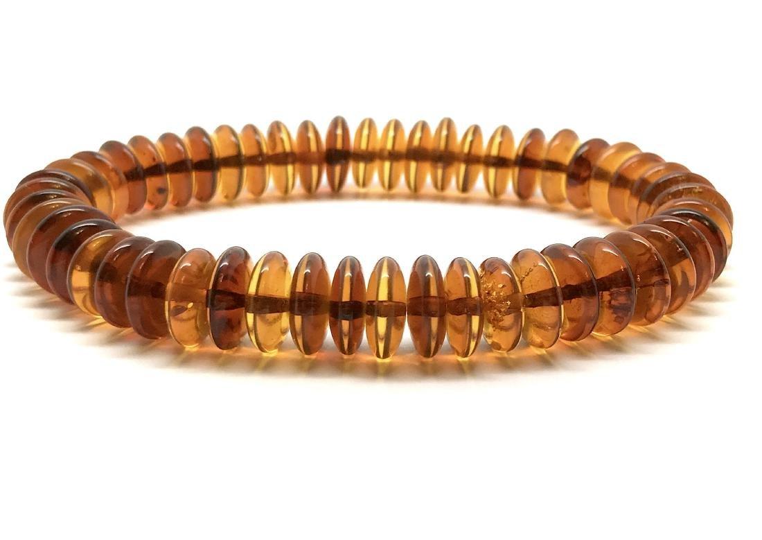 Baltic Amber Bracelet Cognac Colour Donuts